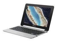 "ASUS Chromebook Flip C101PA FS002 - Conception inclinable - Cortex-A72 + Cortex-A53 RK3399 - Chrome OS - 4 Go RAM - 16 Go eMMC - 10.1"" IPS écran tactile 1280 x 800 - Mali-T860MP4 - 802.11ac, Bluetooth - argent métallique"