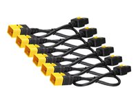 APC Power cable IEC 60320 C19 to IEC 60320 C20 16 A 2 ft latched blac