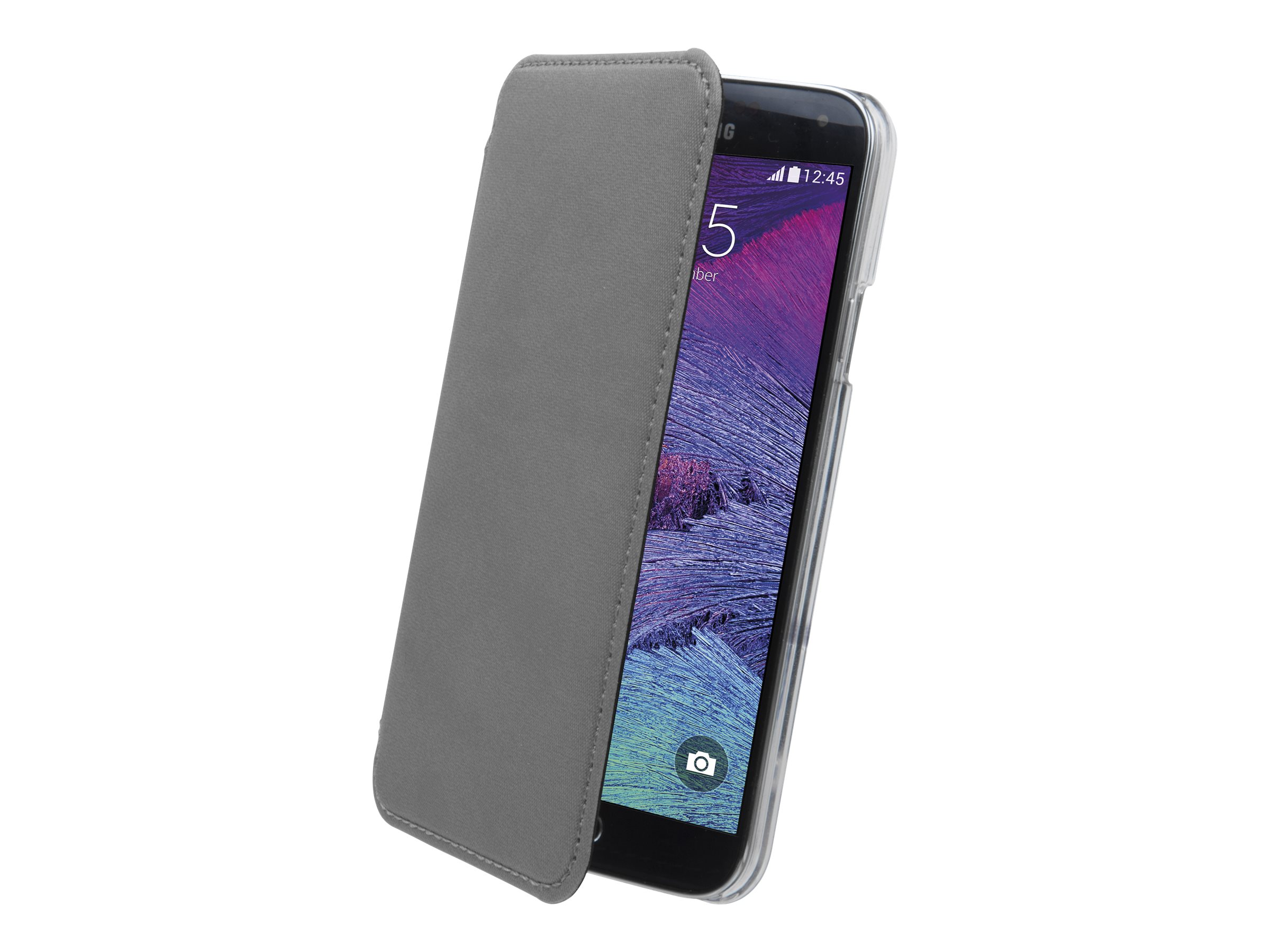 Muvit Made in Paris Crystal Folio - Protection à rabat pour Samsung Galaxy Note 4 - gris