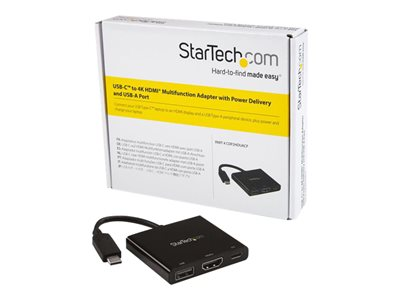 StarTech.com USB-C to HDMI Adapter - 4K 30Hz - Thunderbolt 3 Compatible - with Power Delivery (USB PD) - USB C Adapter Converter (CDP2HDUACP)