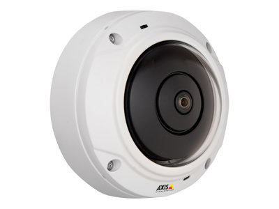 AXIS M3027-PVE Network Camera - - network surveillance camera - dome - outdoor - vandal / weatherproof - colour (Day&Night) - 1920 x 1080 - M12 mount - fixed iris - LAN 10/100 - MJPEG, H.264 - High PoE