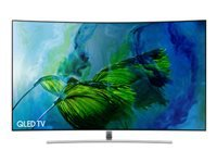 "Samsung QE55Q8CAMT - 55"" Class Q8C Series curved QLED TV - Smart TV - 4K UHD (2160p) 3840 x 2160 - HDR - local dimming, Quantum Dot technology, Supreme UHD dimming - sterling silver"