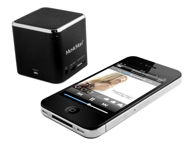 Technaxx MusicMan Mini Wireless Soundstation BT-X2 - Lautsprecher - tragbar - drahtlos - Bluetooth - Schwarz