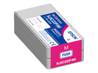 Epson SJIC22P(M) - Magenta - original - ink cartridge - for ColorWorks TM-C3500; TM C3500