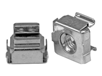 StarTech.com M5 Cage Nuts - 100 Pack - M5 Mounting Cage Nuts for Server Rack & Cabinet (CABCAGENUTS2) - Cage nuts (pack of 100) - for P/N: RK12WALLO, RK12WALLOA, RK15WALLO, RK15WALLOA, RK4236BKB, RK4242BK30, RKQMCAB12V2
