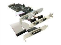 DeLOCK PCI Express card 4 x serial, 1x parallel - Adapter Parallel/Seriell