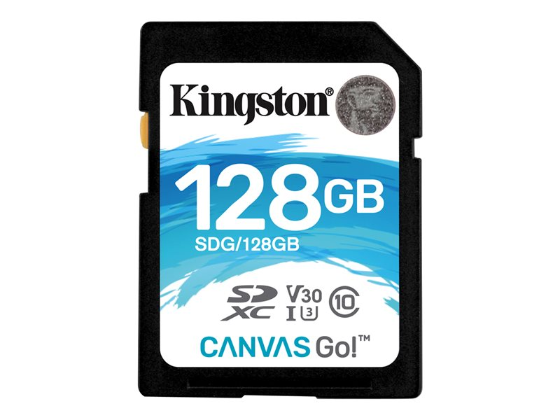 Kingston Canvas Go! - flash-minneskort - 128 GB - SDXC UHS-I