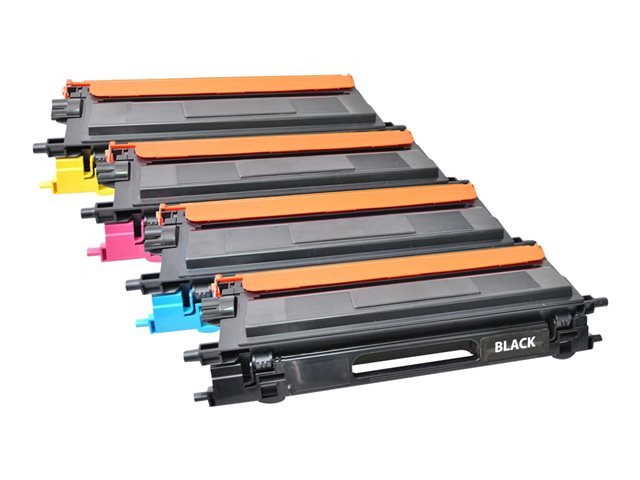 Image of V7 - 4-pack - black, yellow, cyan, magenta - toner cartridge (alternative for: Brother TN135Y, Brother TN135M, Brother TN135BK, Brother TN135C)