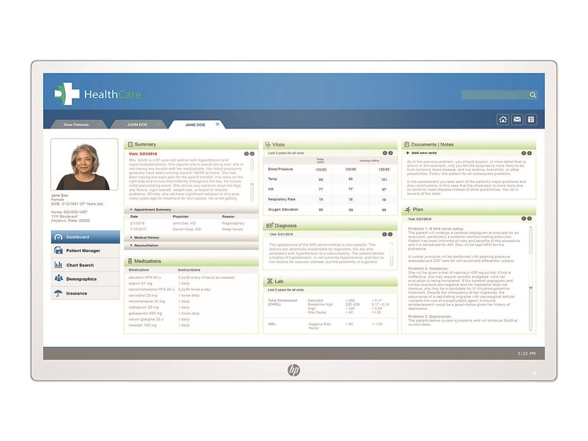 """HP HC271 Clinical Review Monitor - Head Only, Healthcare - LED monitor - 27"""""""
