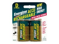 Energizer NH 50BP-2 Battery 2 x D NiMH ( rechargeable ) 2200 mAh silver