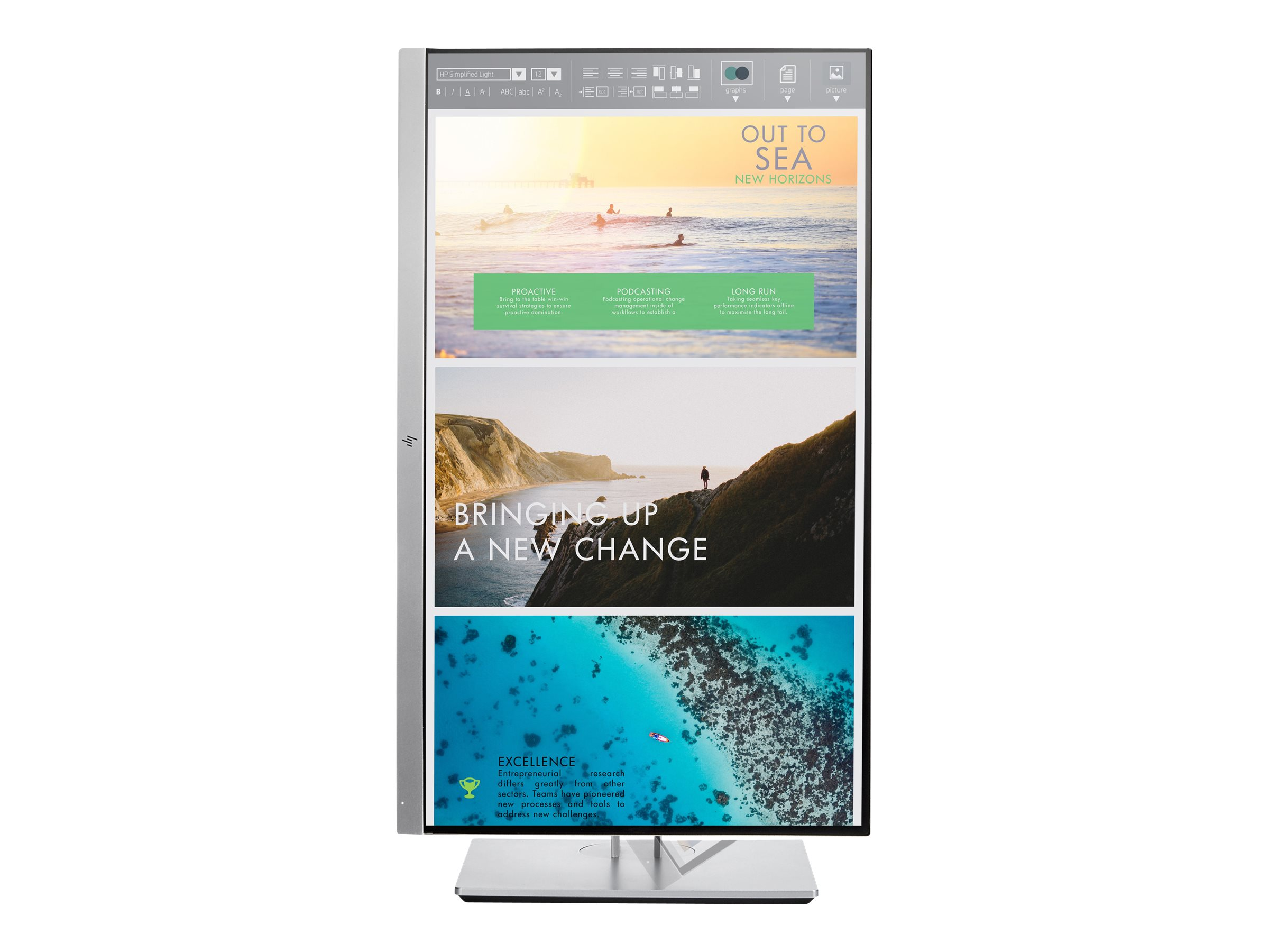 HP EliteDisplay E233 - Head Only - LED monitor - Full HD (1080p) - 23""