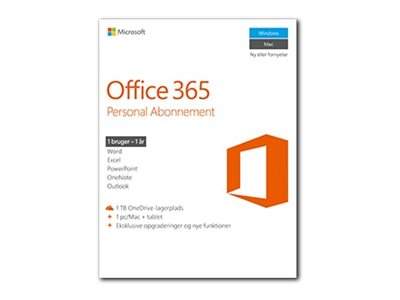 Microsoft Office 365 Personal Bokspakke 1 år 1 person Android iOS Windows MacOS