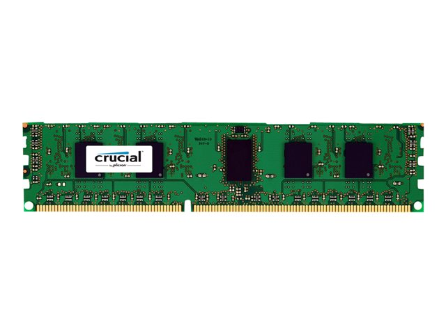 Crucial - DDR3 - 4 GB - DIMM 240-pin - 1600 MHz / PC3-12800 - CL11 - 1.35 V - unbuffered - ECC - for ASUS Z9PE-D16