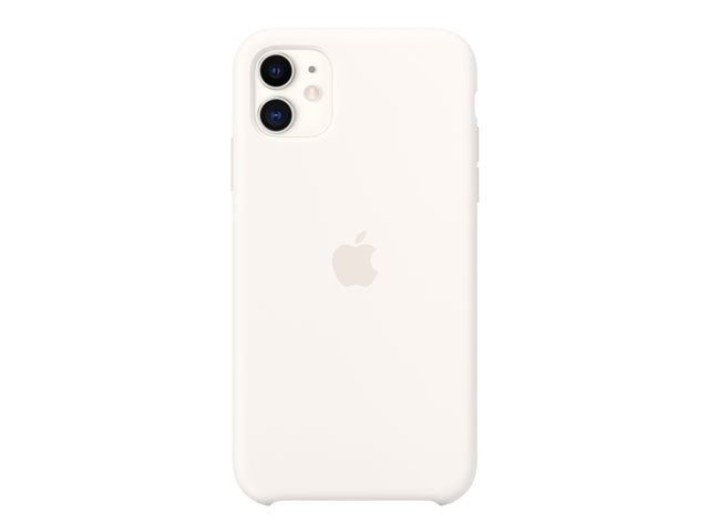 Apple - Back cover for cell phone - silicone - white