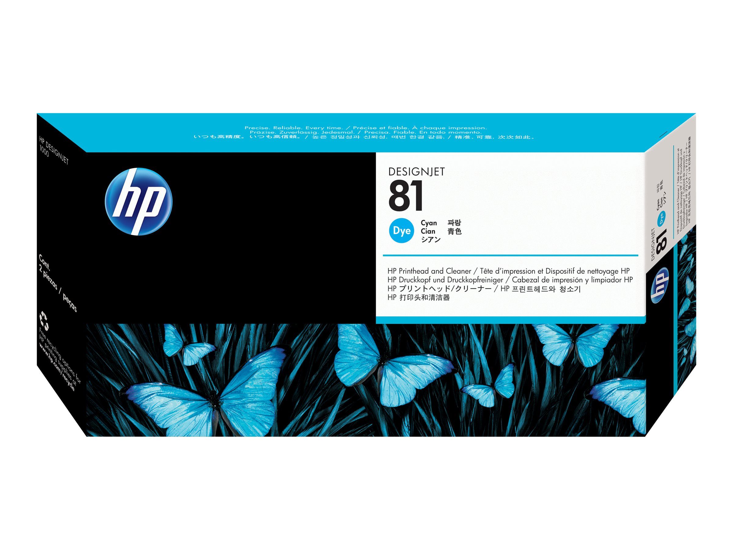 HP 81 - cyan - printhead with cleaner