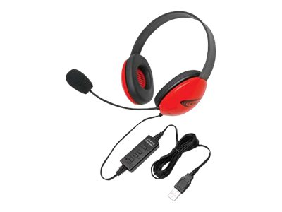Califone Listening First Stereo Headset 2800RD-USB Headset full size wired red