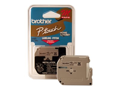 Brother M931 Black on silver Roll (0.47 in x 26.2 ft) 1 roll(s) non-laminated tape