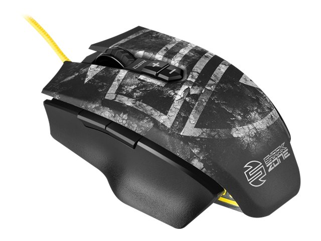 Sharkoon SHARK ZONE M50 - Maus - Laser - 7 Tasten - verkabelt - USB
