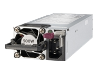 HPE - Power supply - hot-plug / redundant (plug-in module) - Flex Slot - 80 PLUS Platinum - AC 100-240 V - 500 Watt - 563 VA