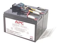 APC Replacement Battery Cartridge #48 - UPS battery - 1 x Lead Acid - for P/N: DLA750, DLA750I, SMT750, SMT750I, SMT750TW, SMT750US, SUA750, SUA750I, SUA750IX38