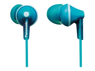 Panasonic RP-HJE125 Ergofit earphones in-ear wired 3.5 mm jack aquamarine