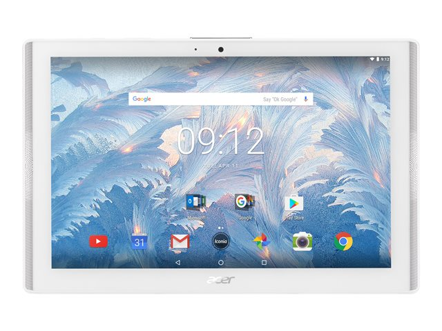 "Acer ICONIA ONE 10 B3-A40-K0K2 - Tablette - Android 7.0 (Nougat) - 16 Go eMMC - 10.1"" IPS (1280 x 800) - hôte USB - Logement microSD - Blanc marbré"