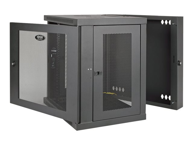 Tripp Lite 10U Wall Mount Rack Enclosure Server Cabinet Hinged w/ Door & Sides - Rack - armoire - montable sur mur - noir - 10U - 19""