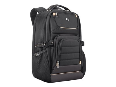 SOLO Pro Backpack Notebook carrying backpack 17.3INCH black, gold