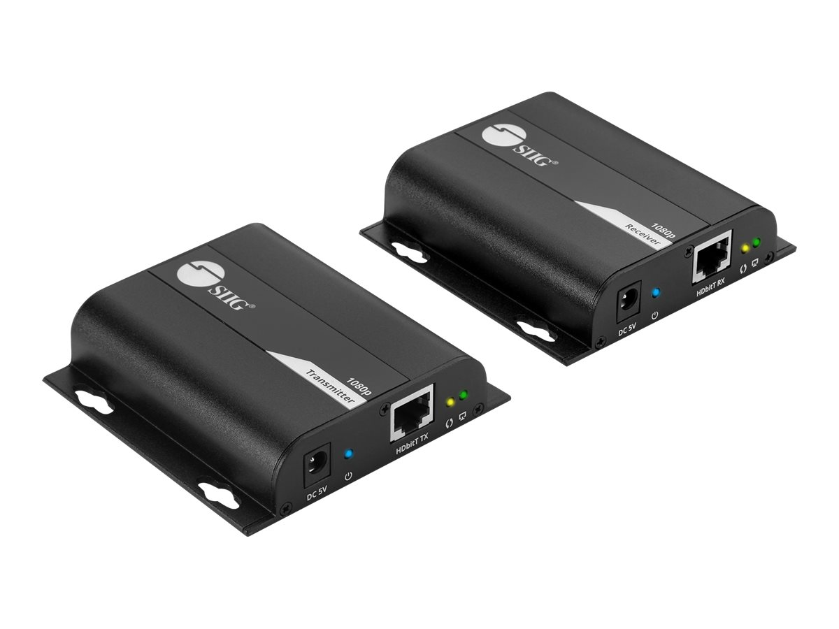 SIIG HDMI HDbitT Over Cat6 Extender with IR - video/audio/infrared extender - HDMI