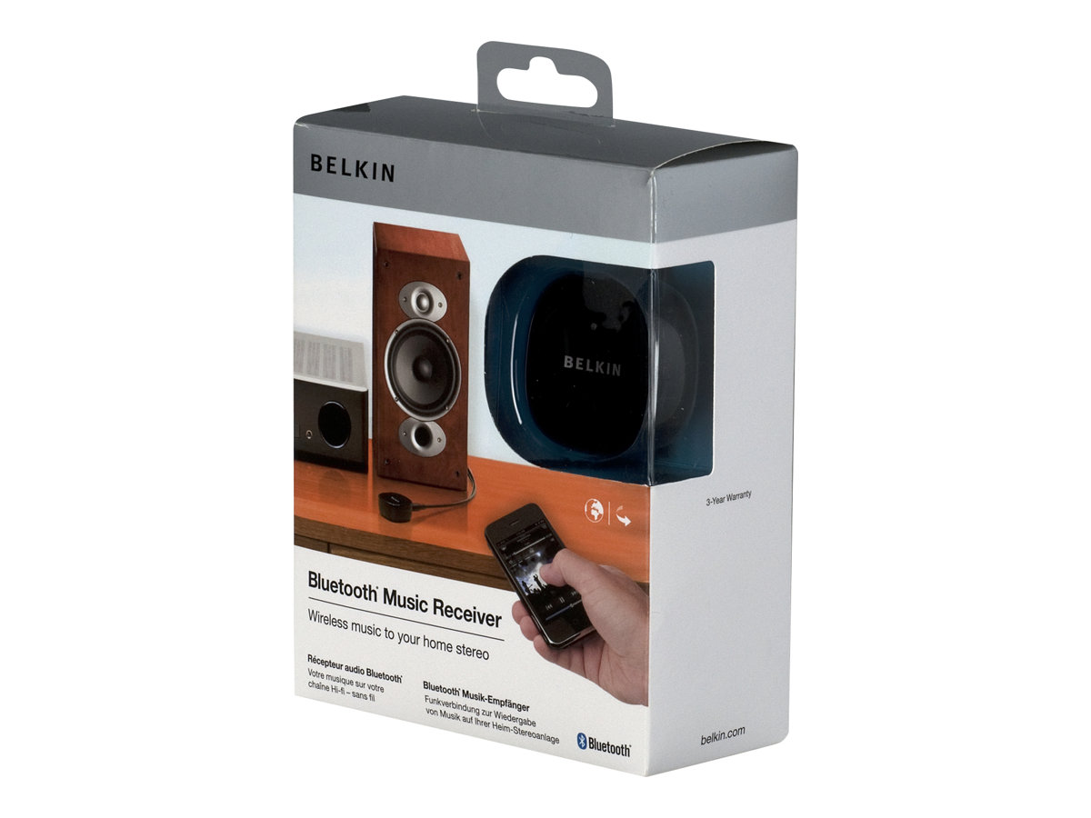 Belkin Bluetooth Music Receiver - Kabelloser Bluetooth-Audioempfänger - für Apple iPhone 3G, 3GS, 4; iPod touch (2G)