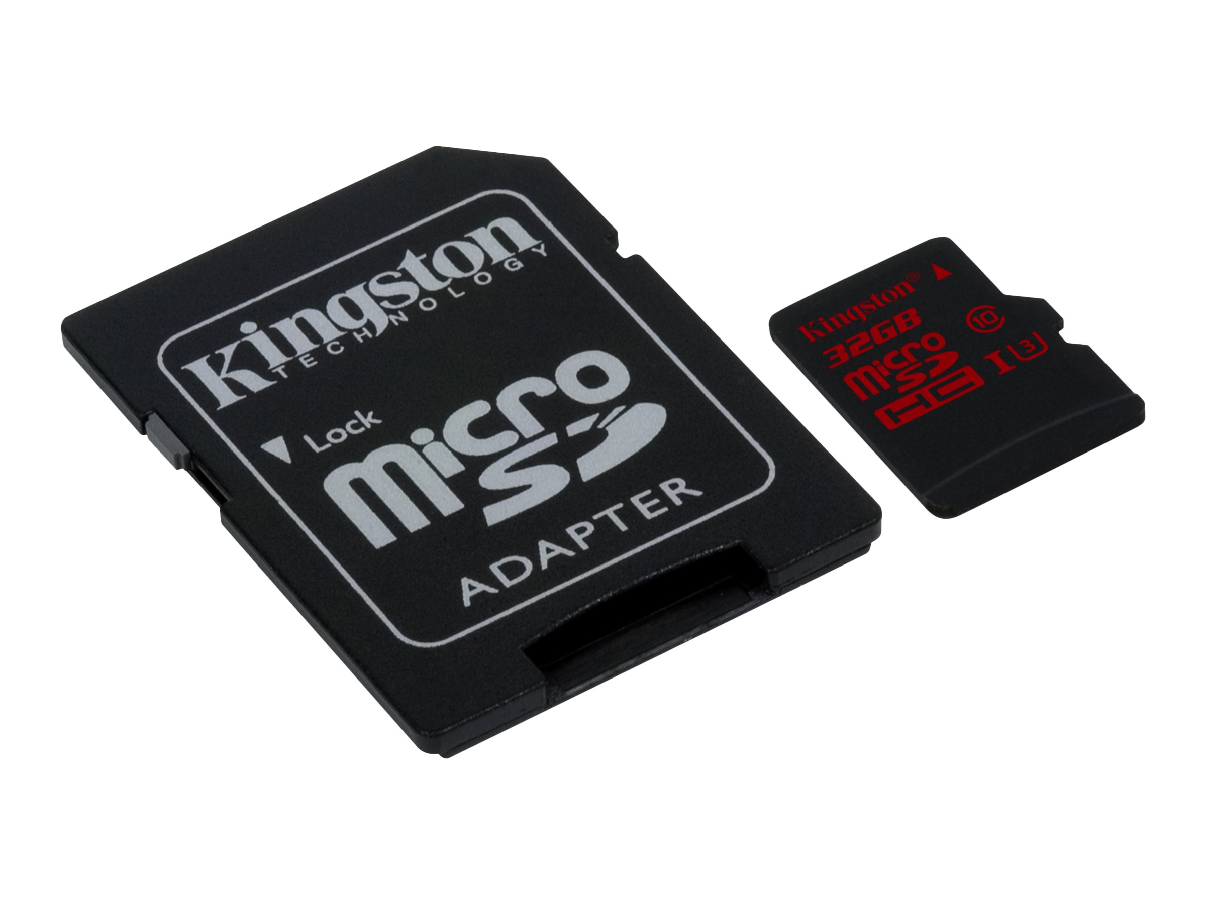 Kingston - Flash-Speicherkarte (microSDHC/SD-Adapter inbegriffen) - 32 GB - UHS Class 3 - microSDHC UHS-I