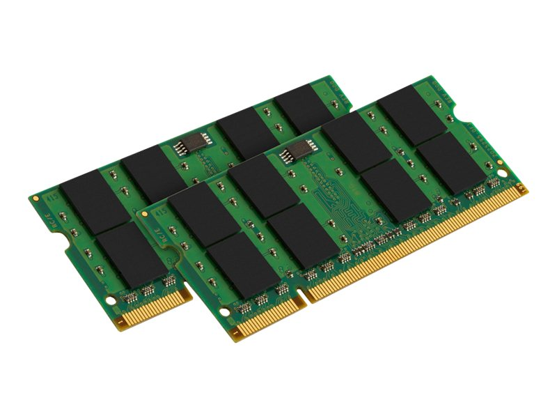 Kingston - DDR2 - 4 GB: 2 x 2 GB - SO DIMM 200-PIN - 800 MHz / PC2-6400 - ungepuffert