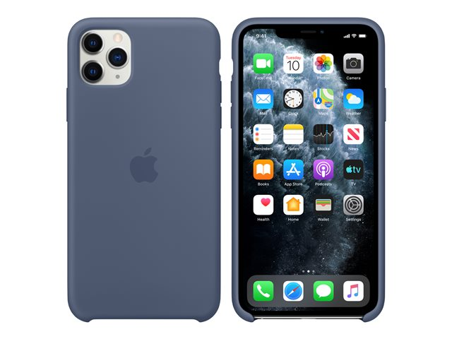 Apple - Back cover for cell phone - silicone - alaskan blue