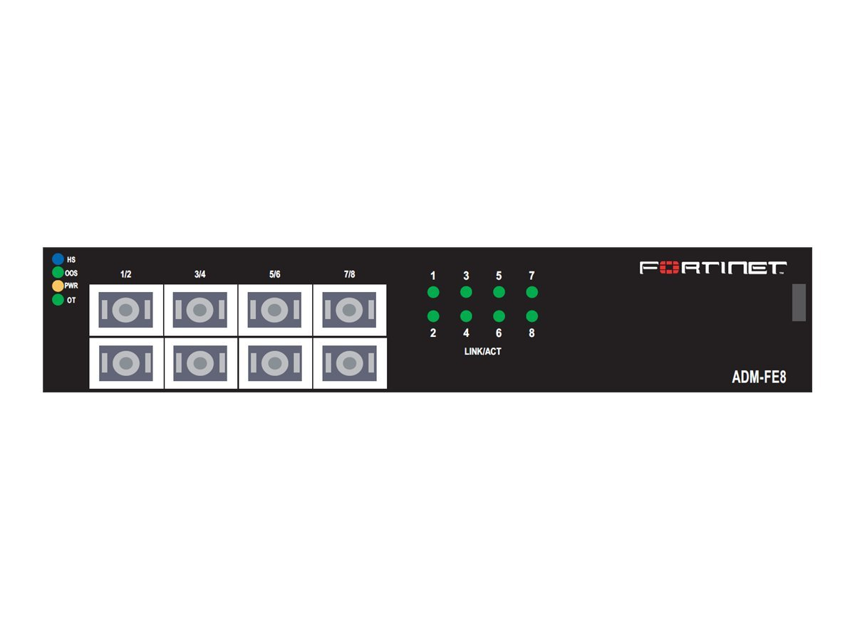 Fortinet FortiGate ADM-FE8 - expansion module - 8 ports