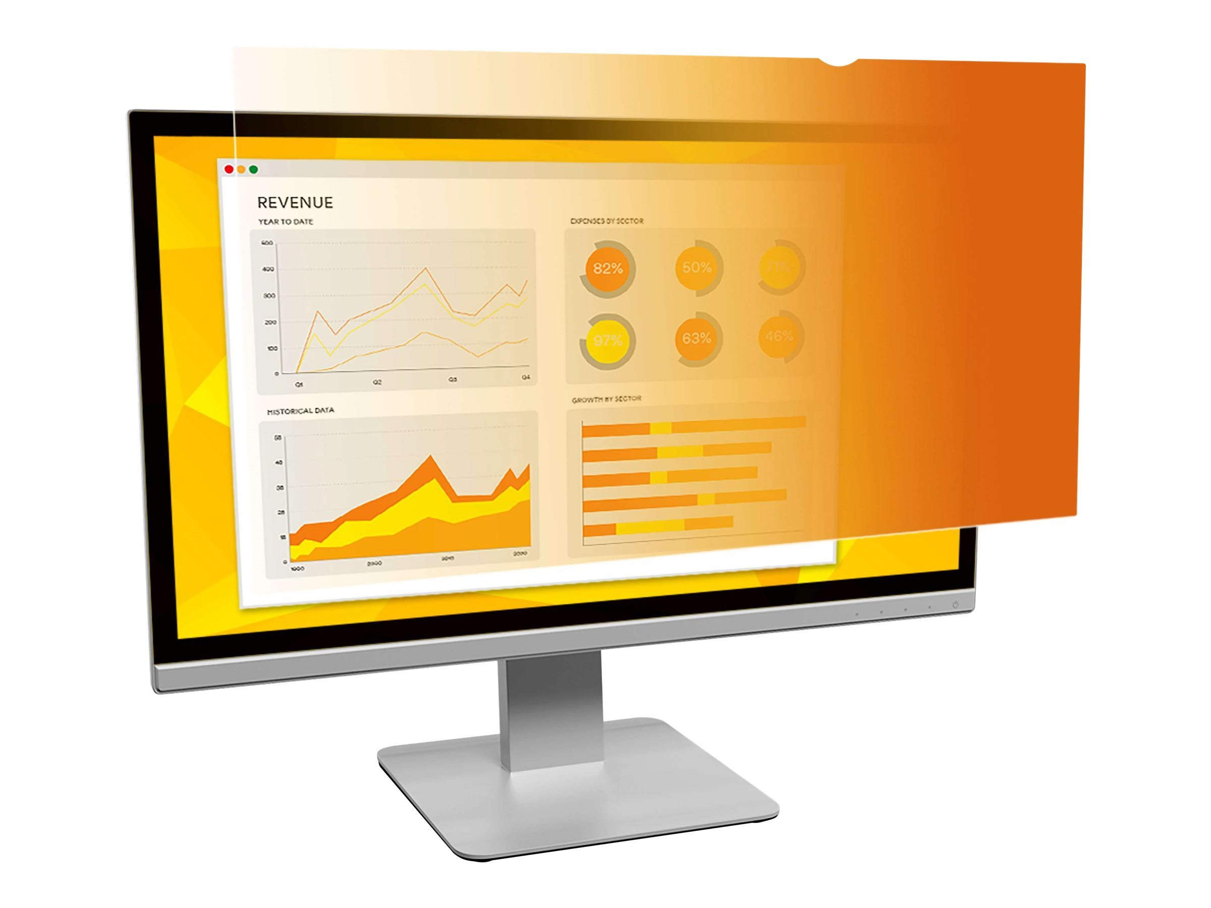"""3M Gold Privacy Filter for 20"""" Monitors 16:9 - display privacy filter - 20"""" wide"""