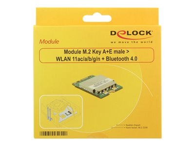 Module M.2 Key A+E male > WLAN 11ac/a/b/g/n + Bluetooth 4.0