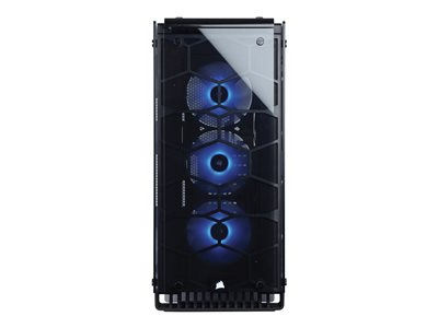 CORSAIR Crystal Series 570X RGB Miditower ATX Ingen strømforsyning Sort Transparent