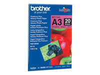 Brother Innobella Premium Plus BP71GA3 - Brillant - A3 (297 x 420 mm) - 260 g/m² - 20 feuille(s) papier photo - pour Brother MFC-J2330, J3530, J3930, J6530, J6580, J6583, J6980, J6983, J6995, J6997, J6999