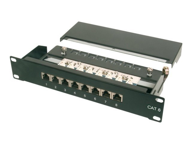 DIGITUS - Patch Panel - RJ-45 X 8 - 1U - 10