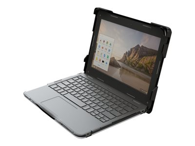 Gumdrop BumpTech Notebook top and rear cover black, transparent
