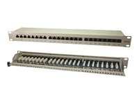 M-CAB - Patch Panel - RAL 7035, White Gray - 19