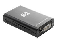 HP - External video adapter - USB - DVI - for EliteDesk 705 G4, 800 G4; EliteOne 800 G3; ProDesk 400 G5, 600 G4; ProOne 400 G3, 600 G3