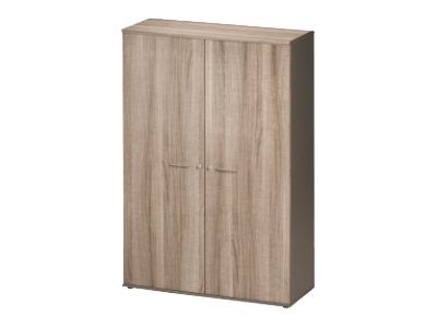 jazz armoire 2 portes 4 etag res 120 cm finition ch ne armoires en bois. Black Bedroom Furniture Sets. Home Design Ideas