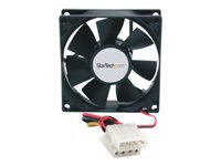 StarTech.com 80x25mm Dual Ball Bearing Computer Case Fan w/ LP4 Connector - System fan kit - 80 mm