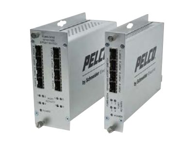 Pelco FUMS-GFX8 Switch unmanaged 8 x SFP rack-mountable DC power