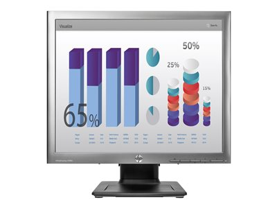 "HP EliteDisplay E190i - LED monitor - 18.9"" (18.9"" viewable) - 1280 x 1024 - IPS - 250 cd/m² - 1000:1 - 8 ms - DVI-D, VGA, DisplayPort - meteorite with black stand"