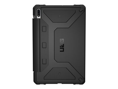 UAG Rugged Case for Samsung Galaxy Tab S7+ (12.4-inch) Metropolis Black Flip cover for tablet