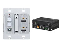 KanexPro Double Gang 4K HDMI & USB 2.0 Wall Plate Switcher over HDBaseT w/ IR & PoH