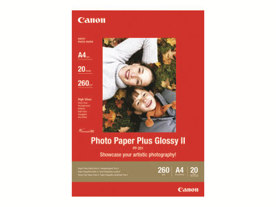 Canon Photo Paper Plus Glossy II PP-201 - papier photo - 20 feuille(s) - A3