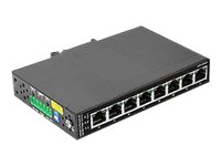 SIIG CyberX Industrial 8-Port PoE+ Gigabit Ethernet Switch with 8x High-Power PSE Ports Switch